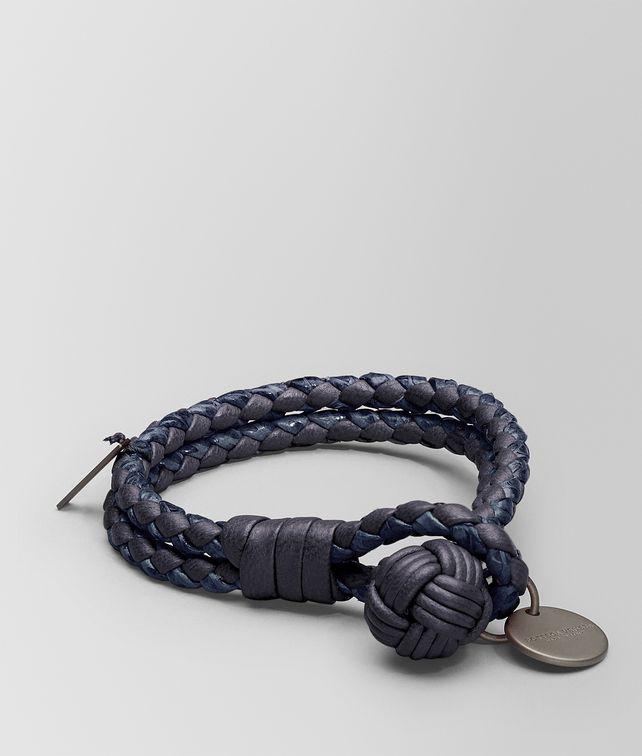 Tourmaline Prusse Intrecciato Ayers Nappa Bracelet