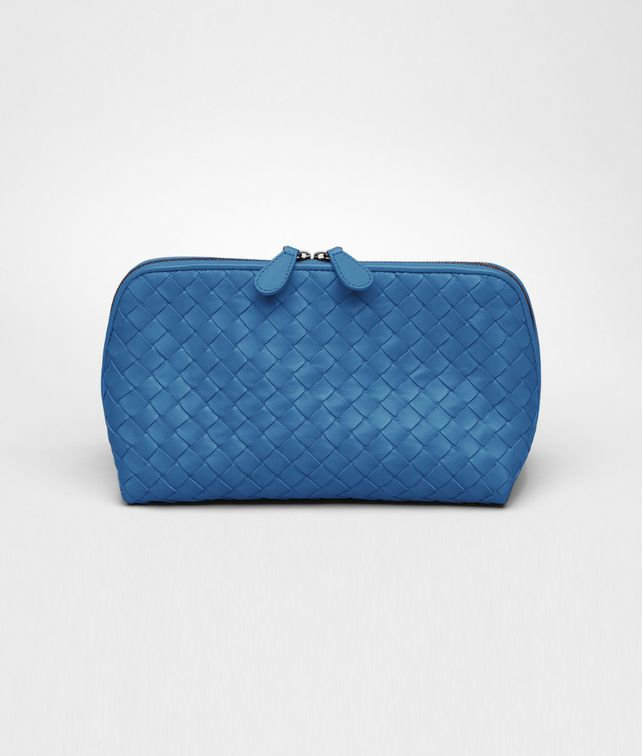 BOTTEGA VENETA Électrique Intrecciato Nappa Cosmetic Case Other Leather Accessory D fp