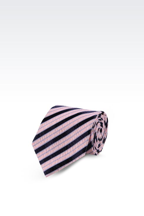 STRIPED BI-COLOUR LOOK TIE: Ties Men by Armani - 1