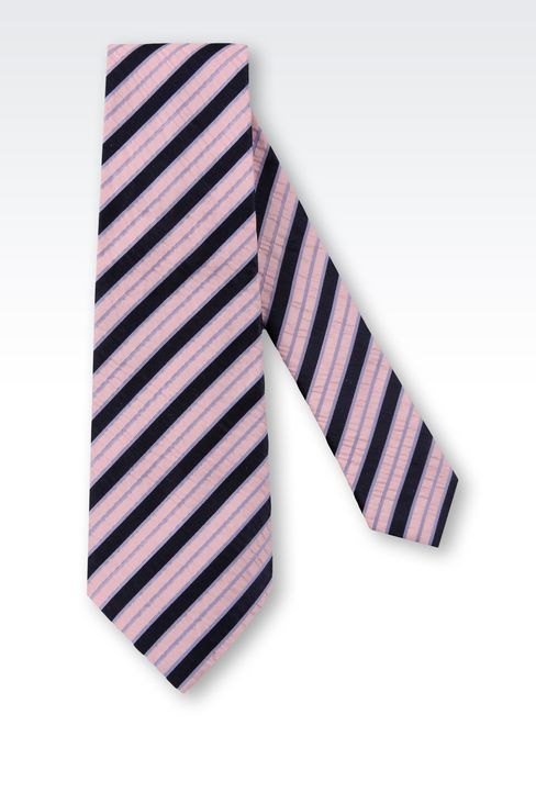 STRIPED BI-COLOUR LOOK TIE: Ties Men by Armani - 2