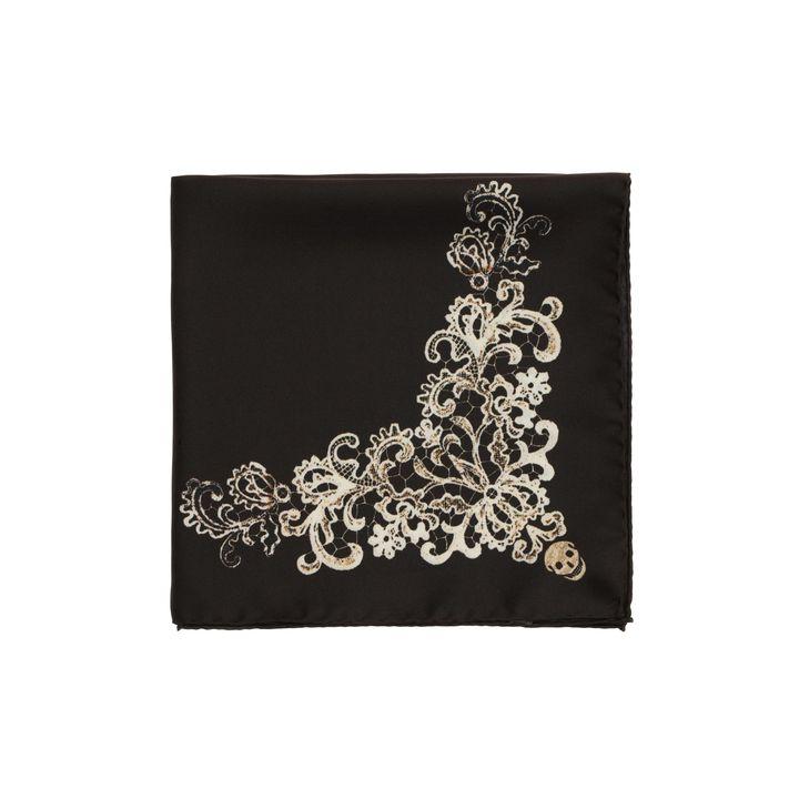 Alexander McQueen, Lace Print Silk Scarf