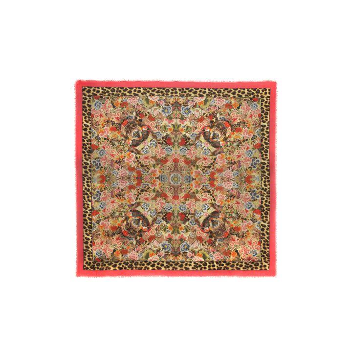 Alexander McQueen, Floral Patchwork Silk Blend Scarf