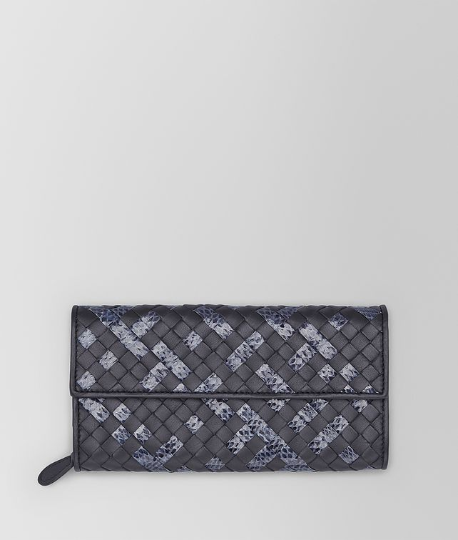 Tourmaline Prusse Intrecciato Ayers Nappa Continental Wallet
