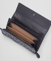 CONTINENTAL WALLET IN TOURMALINE INTRECCIATO NAPPA AND AYERS