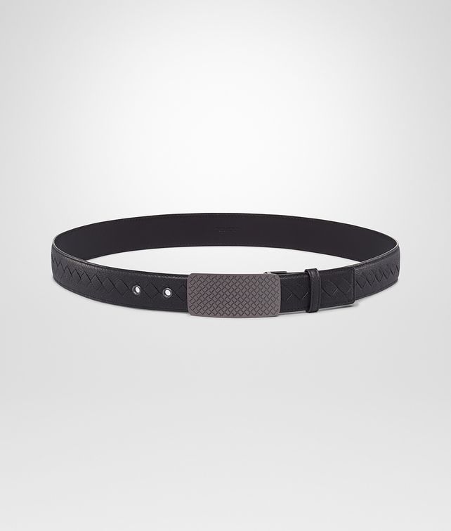 Nero Buffalo Leather Metal Belt