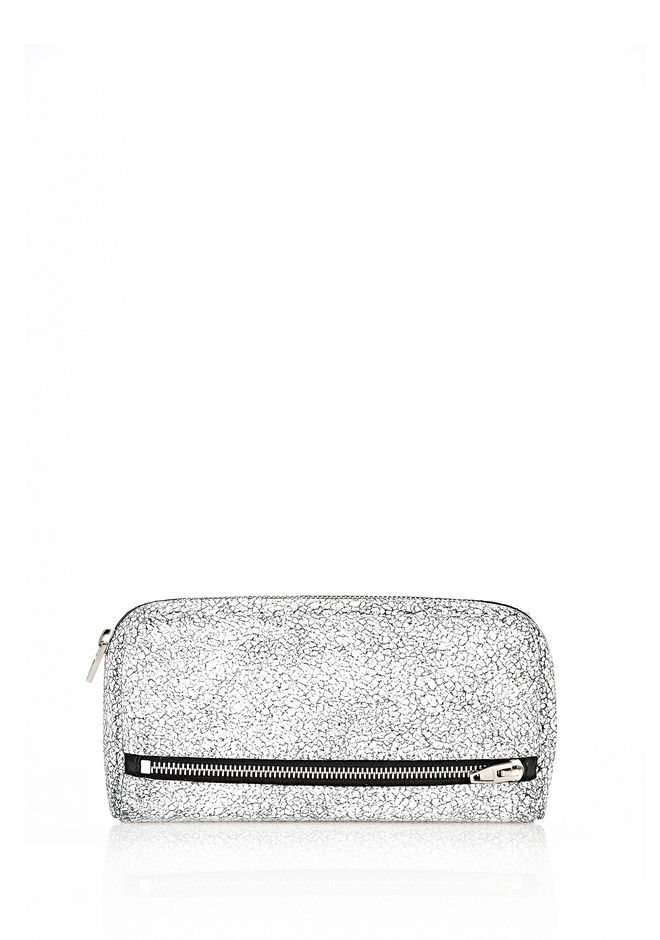 ALEXANDER WANG FUMO CONTINENTAL IN MATTE CRACKED PEROXIDE WITH RHODIUM