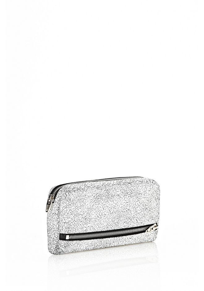ALEXANDER WANG FUMO CONTINENTAL IN MATTE CRACKED PEROXIDE WITH RHODIUM Wallets Adult 12_n_r