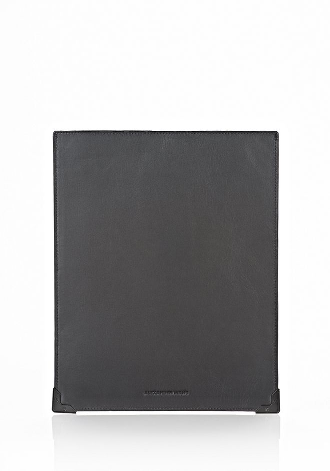 ALEXANDER WANG EXCLUSIVE PRISMA SKELETAL IPAD SLEEVE IN EMBOSSED BLACK WITH MATTE BLACK TECH Adult 12_n_d