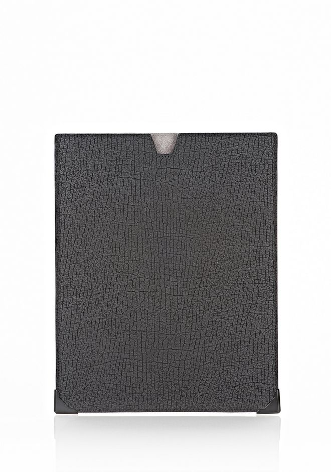 ALEXANDER WANG EXCLUSIVE PRISMA SKELETAL IPAD SLEEVE IN EMBOSSED BLACK WITH MATTE BLACK TECH Adult 12_n_f