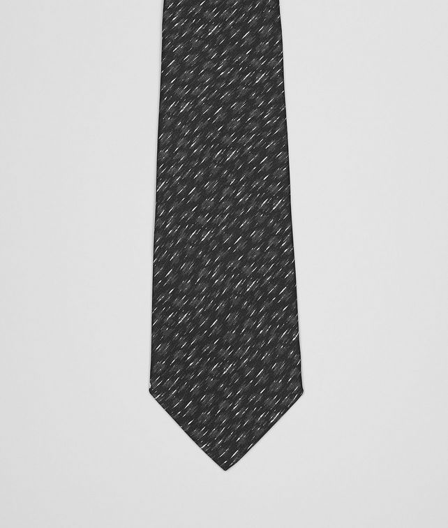 BLACK DARK GREY SILK TIE