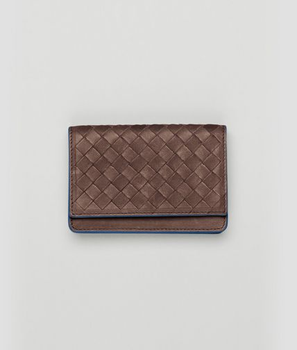 BOTTEGA VENETA - Edoardo Électrique Intrecciato Washed Vintage Card Case