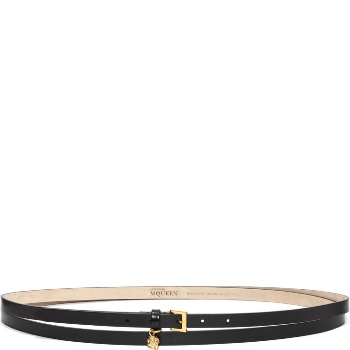 Alexander McQueen, Leather Double Wrap Skull Belt
