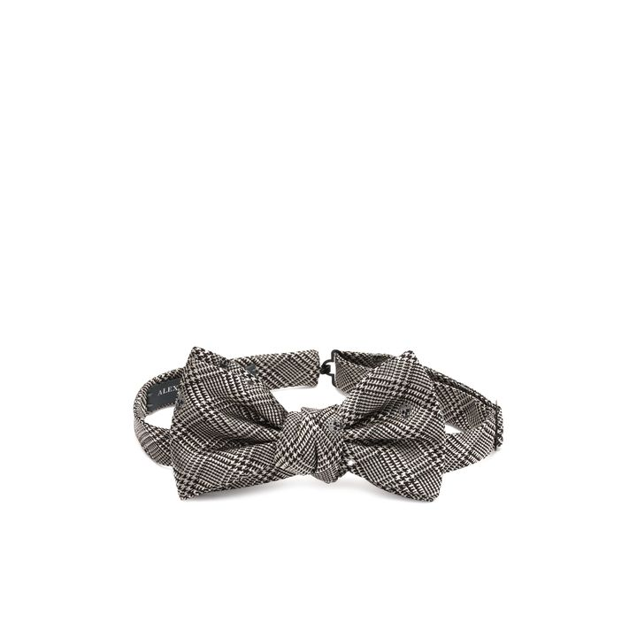 Alexander McQueen, Prince Of Wales Check Skull Bow Tie
