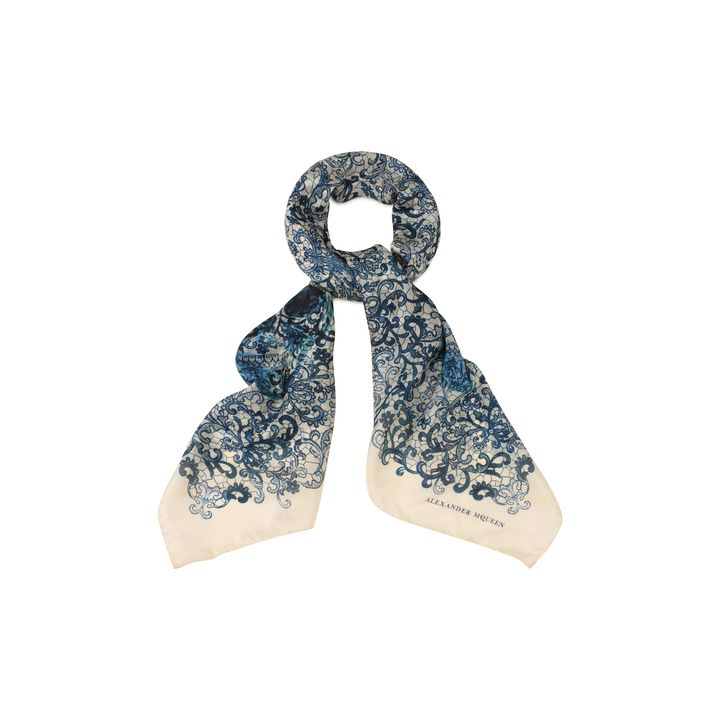 Alexander McQueen, Skull Lace Print Scarf