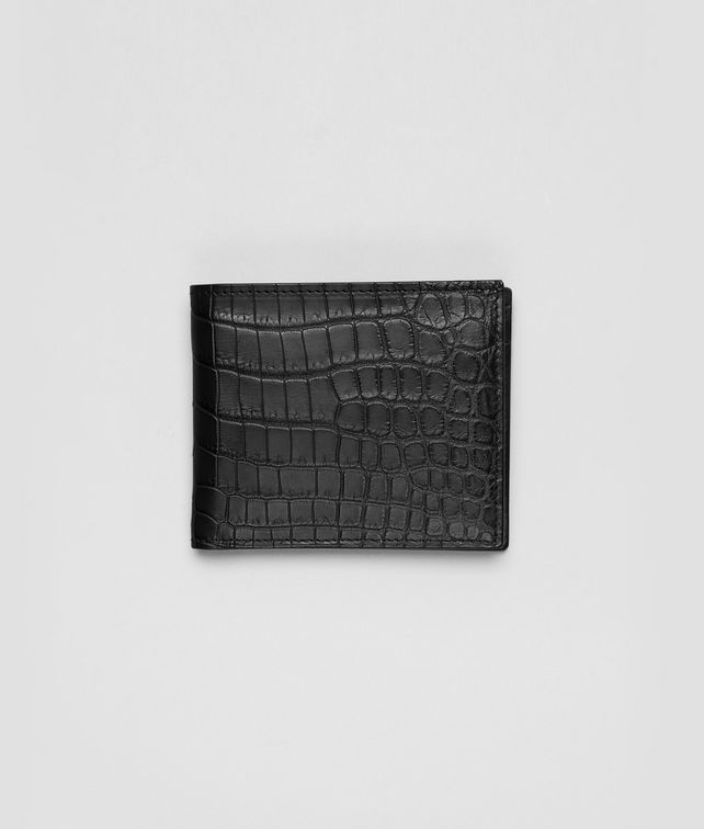 WALLET IN NERO CROCODILE