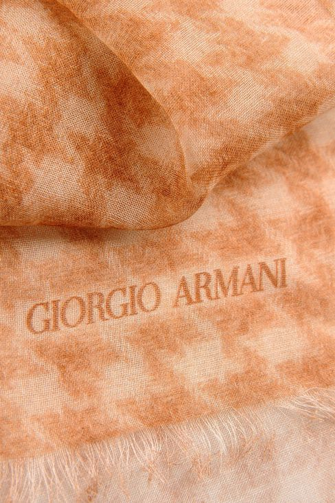 COTTON HOUNDSTOOTH WRAP: Stoles Men by Armani - 3