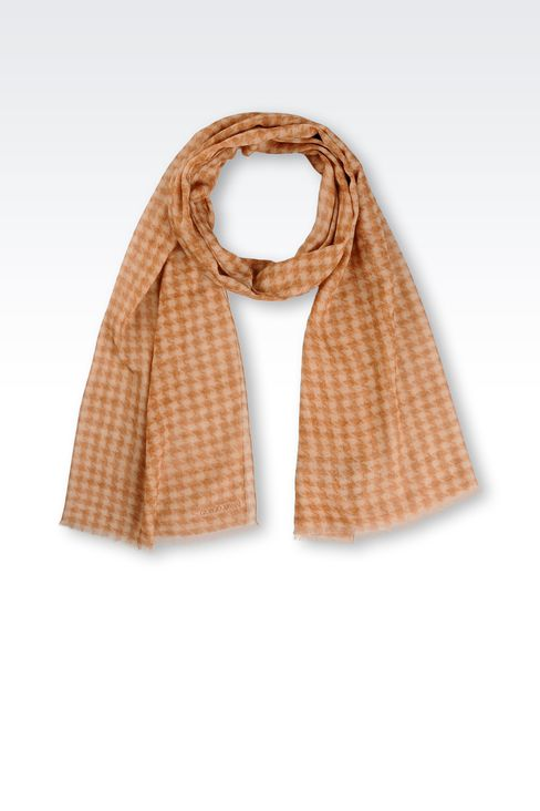 COTTON HOUNDSTOOTH WRAP: Stoles Men by Armani - 1