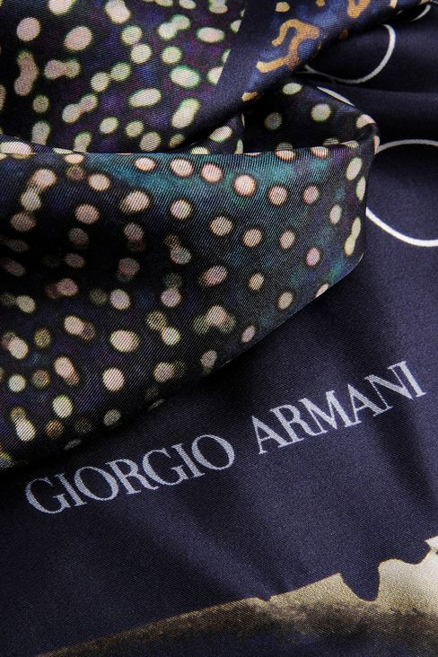 MODAL SILK WRAP WITH PRINT: Stoles Men by Armani - 3