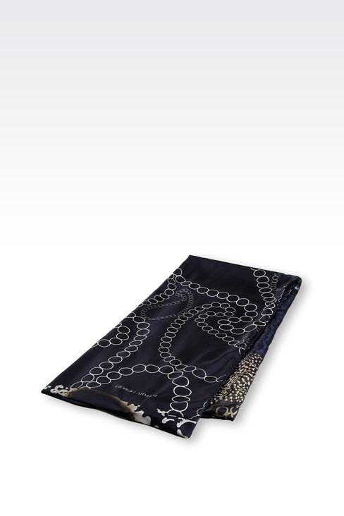 MODAL SILK WRAP WITH PRINT: Stoles Men by Armani - 2