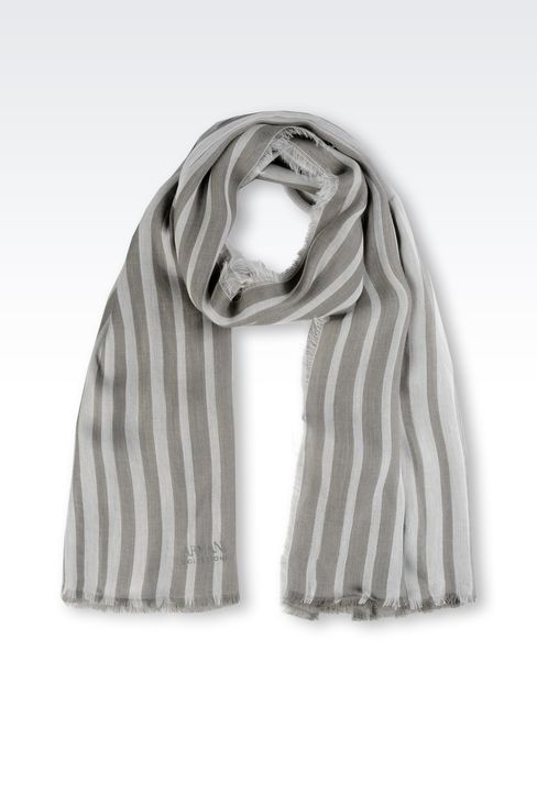 TWO-TONE STRIPED STOLE: Stoles Women by Armani - 1