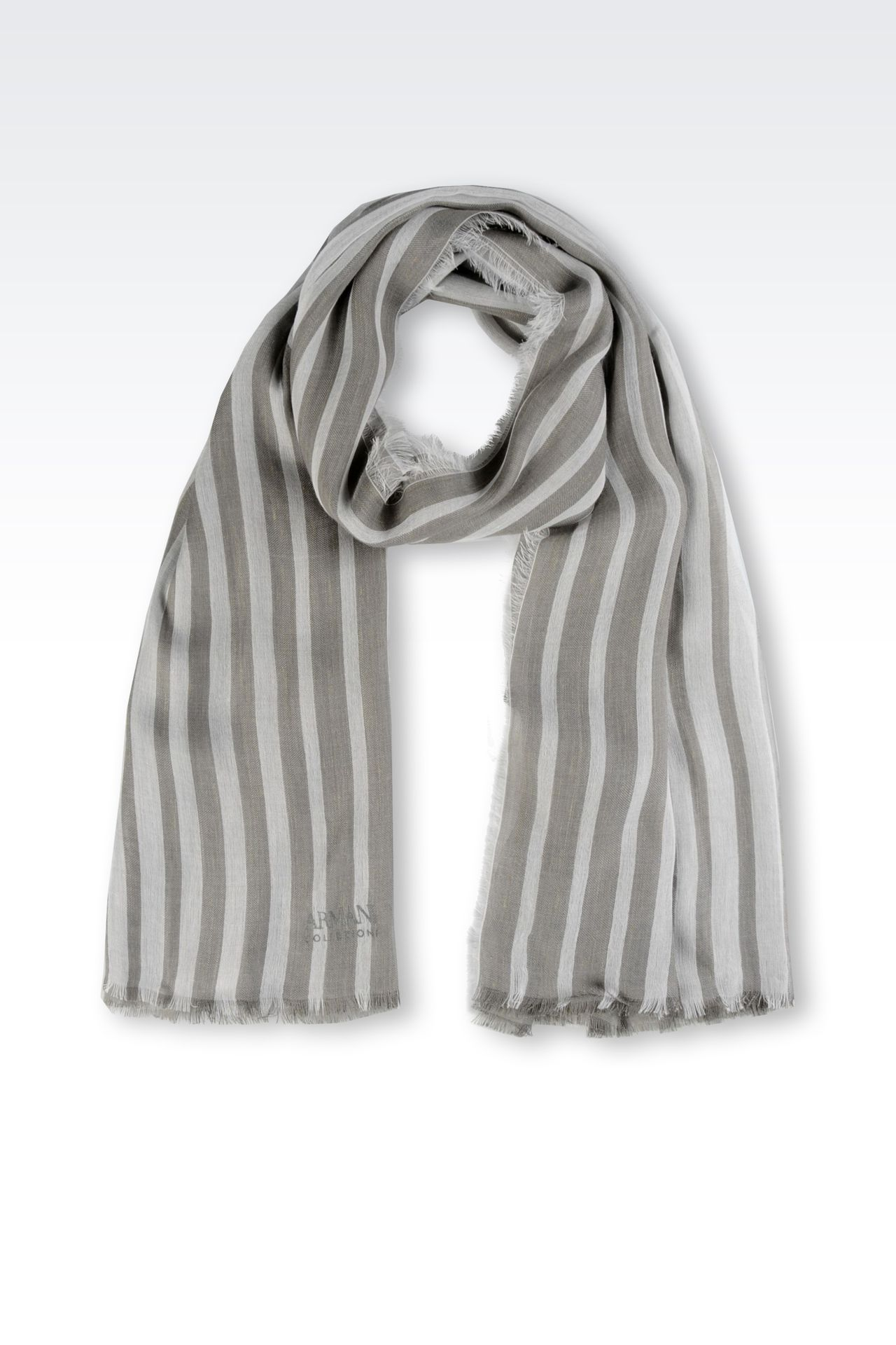 TWO-TONE STRIPED STOLE: Stoles Women by Armani - 0