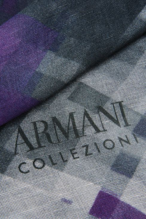 MODAL AND LINEN STOLE: Stoles Women by Armani - 3