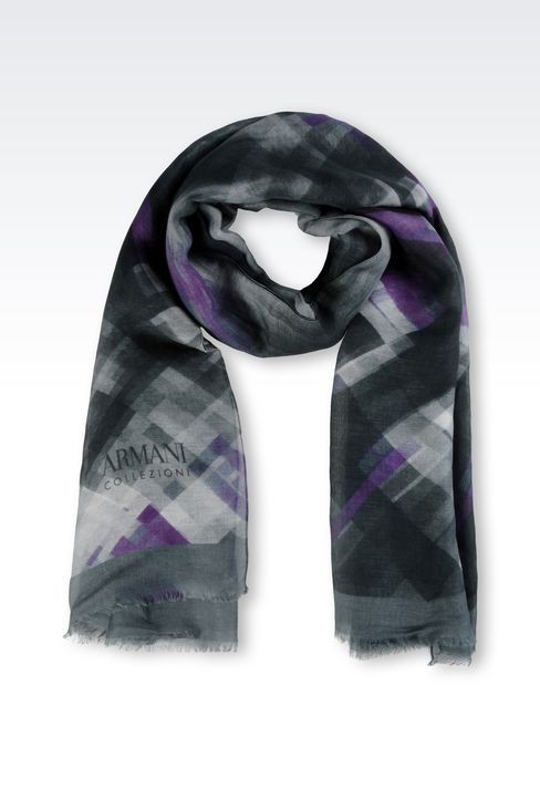MODAL AND LINEN STOLE: Stoles Women by Armani - 1