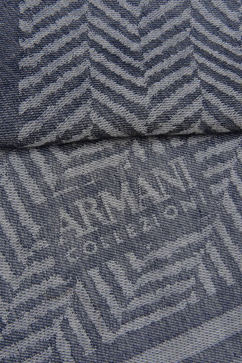 CHEVRON JACQUARD STOLE WITH LOGO: Stoles Men by Armani - 3