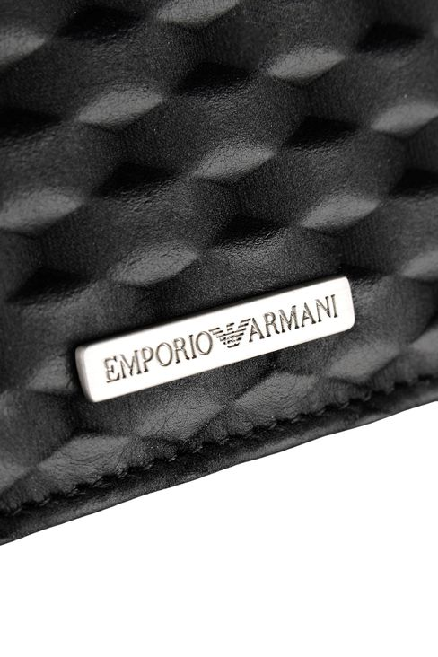 CREDIT CARD HOLDER IN CALFSKIN LEATHER: Card holders Men by Armani - 3