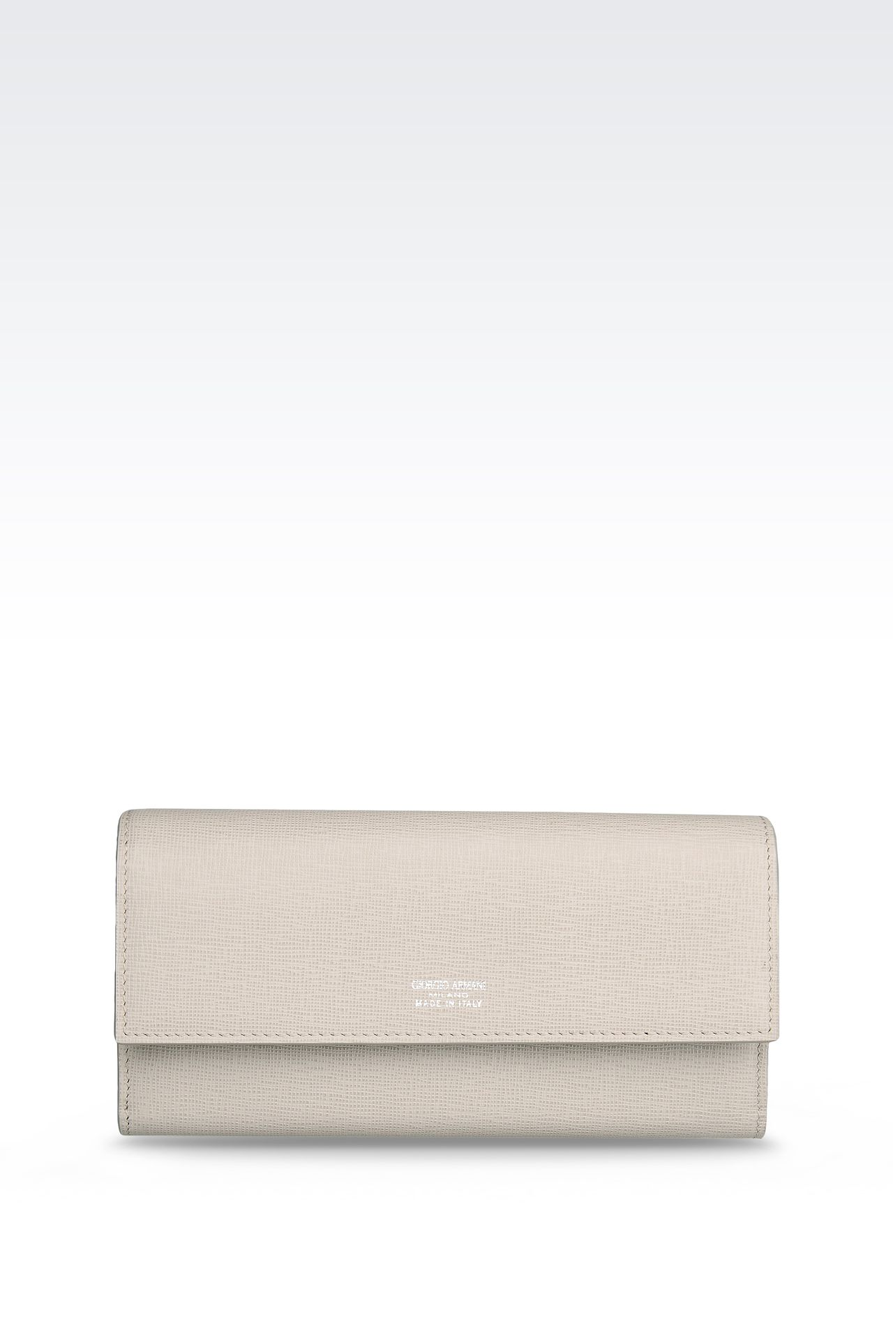BUTTON WALLET IN SAFFIANO: Wallets Women by Armani - 0