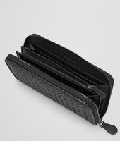 Nero Intrecciato Vachette Zip Around Wallet