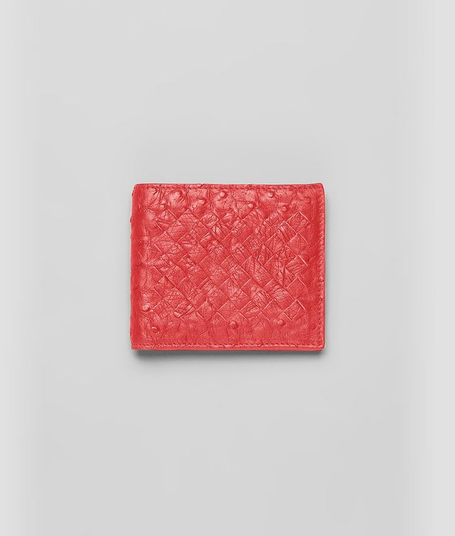 WALLET IN NEW RED OSTRICH