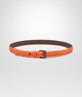 Tangerine Intrecciato Nappa Belt