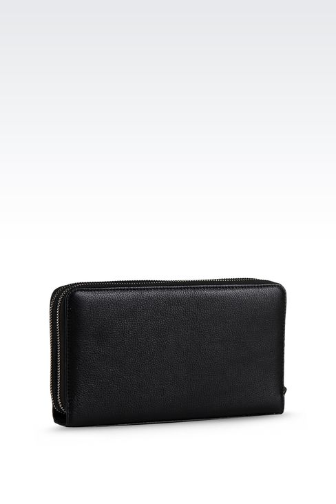 LEATHER DOCUMENT HOLDER WITH FULL ZIP CLOSURE : Document holders Men by Armani - 2