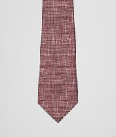 BLACK BORDEAUX COTTON SILK TIE
