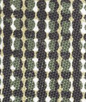 BLACK DARK GREEN COTTON SILK TIE