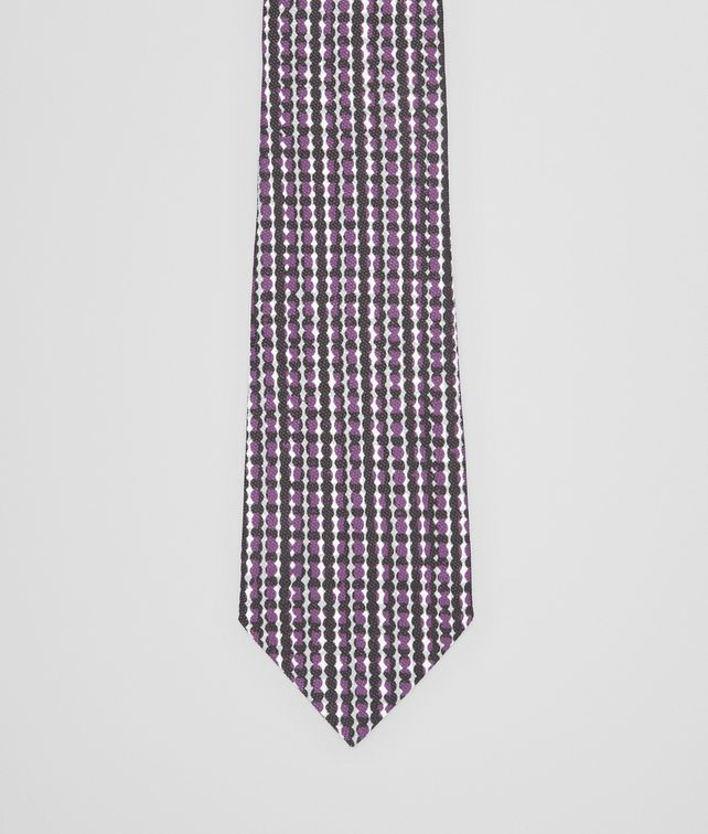 BOTTEGA VENETA BLACK DARK PURPLE COTTON SILK TIE Tie or bow tie U fp