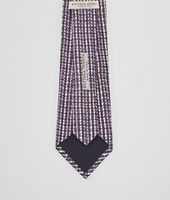 BLACK DARK PURPLE COTTON SILK TIE
