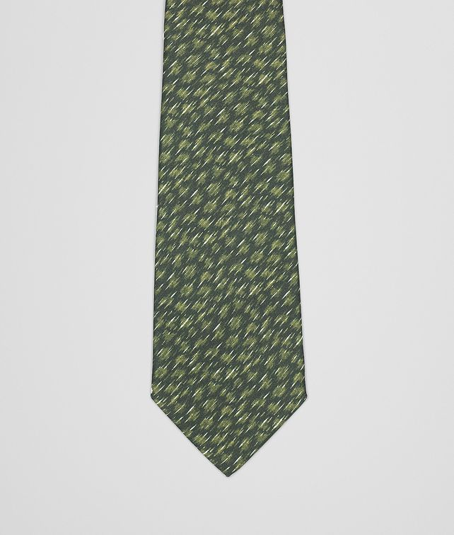 BOTTEGA VENETA OLIVE GREY SILK TIE Tie or bow tie U fp