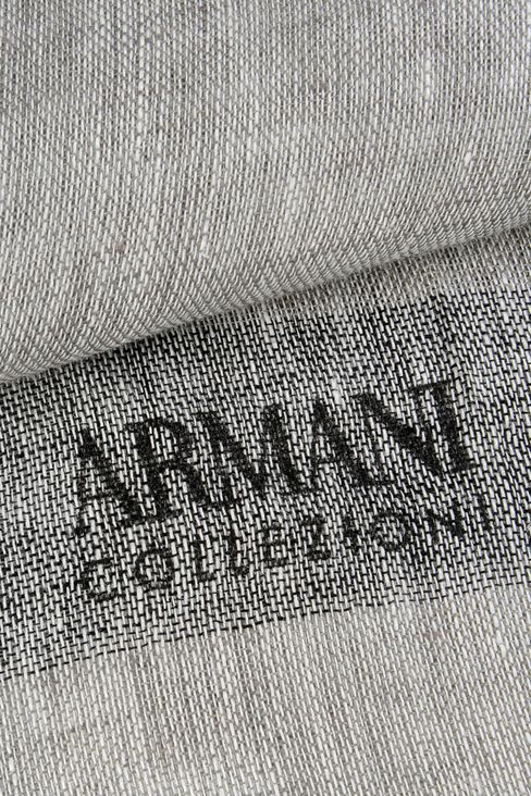 LINEN STOLE WITH LOGO: Scarves Men by Armani - 3