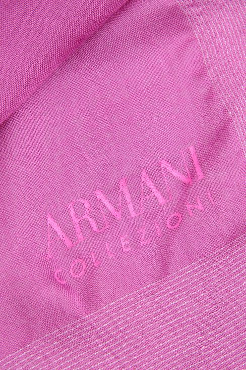 MODAL STOLE WITH LOGO: Stoles Women by Armani - 3
