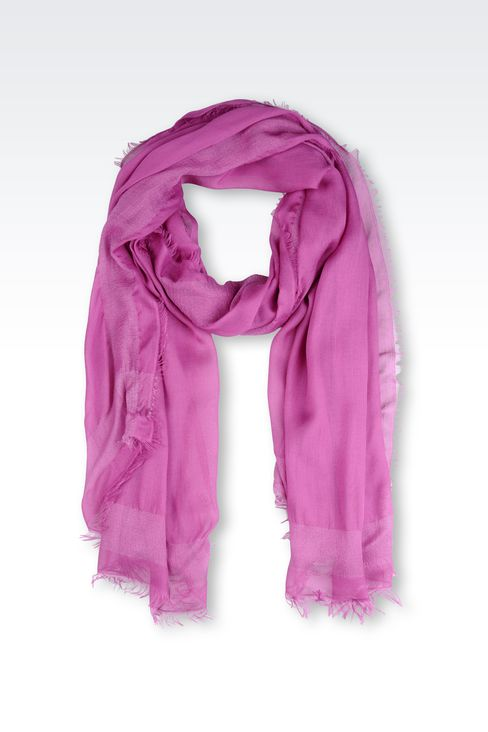 MODAL STOLE WITH LOGO: Stoles Women by Armani - 1