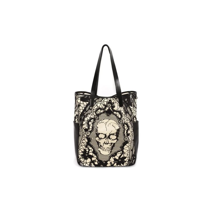 Alexander McQueen, Skull Lace Print Shopper