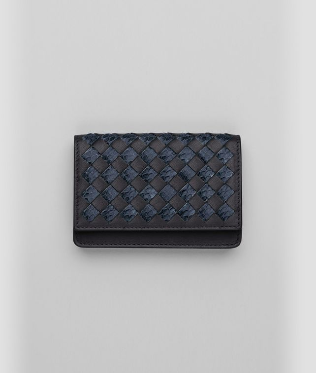 BOTTEGA VENETA Tourmaline Prusse Intrecciato Ayers Nappa Card Case Mini Wallet or Coin Purse D fp