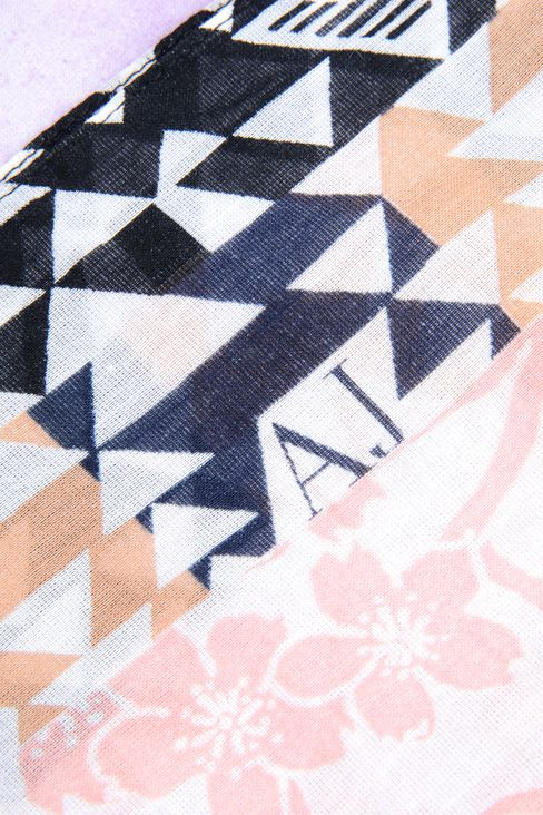 SCARF IN PRINTED COTTON AND SILK: Foulards Women by Armani - 3