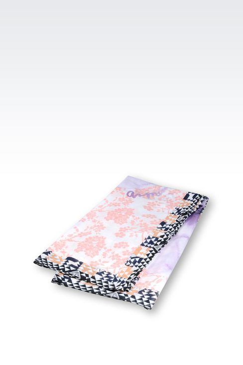 SCARF IN PRINTED COTTON AND SILK: Foulards Women by Armani - 2