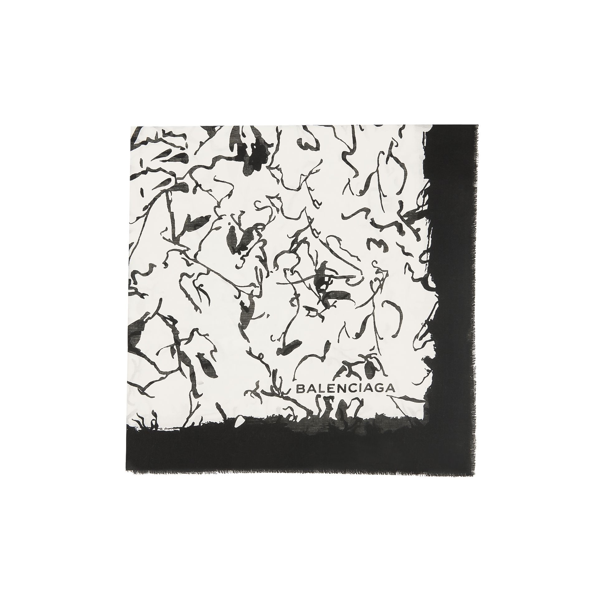 Balenciaga 'Ink Drawing' Scarf
