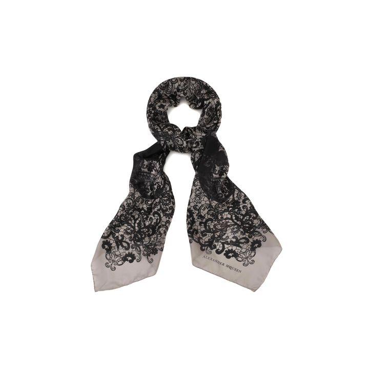Alexander McQueen, Skull Lace Print Scarf