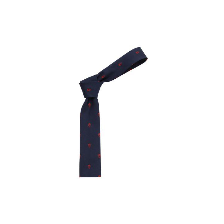 Alexander McQueen, Cravate au motif Skull intégral