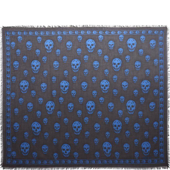 Alexander McQueen, Foulard Skull Classico Misto Seta